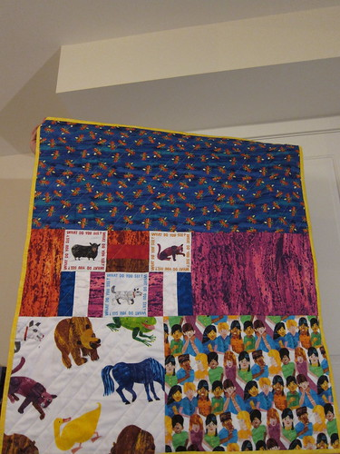 Eric Carle Quilt back