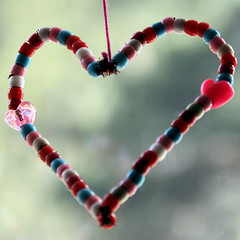 Pipe Cleaner and Bead Heart