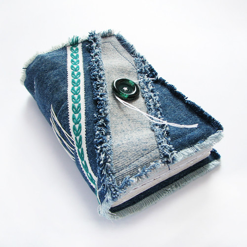 handmade journal of upcycled jeans