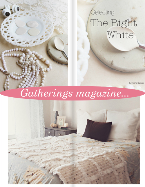 Gatherings Magazine, The White Issue, Winter 2012 | Emma Lamb
