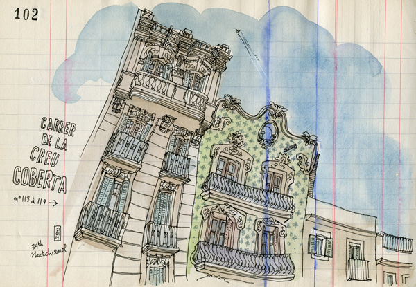 34th sketchcrawl in barcelona