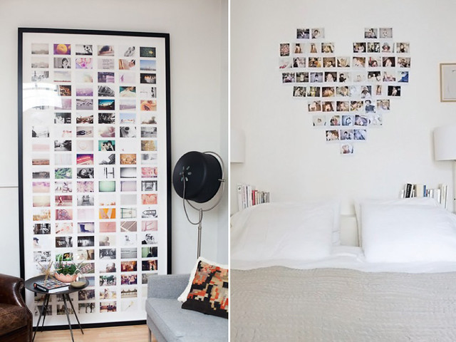 Diy home photo walls a pair a spare for Idee deco cadre photo