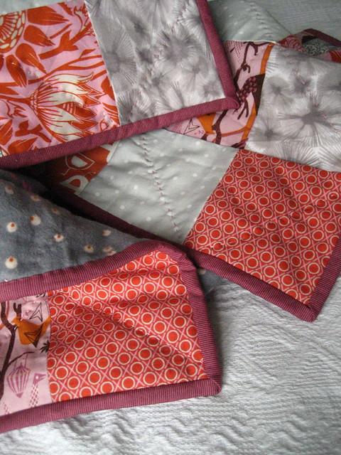 Tangerine Pearl Quilt binding