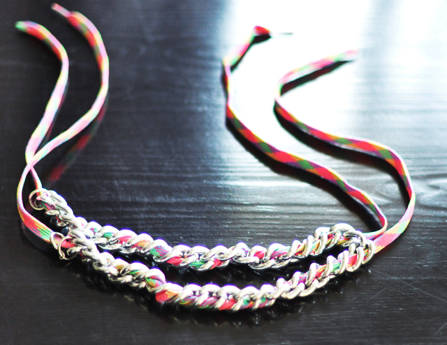 neon chain necklace diy-7