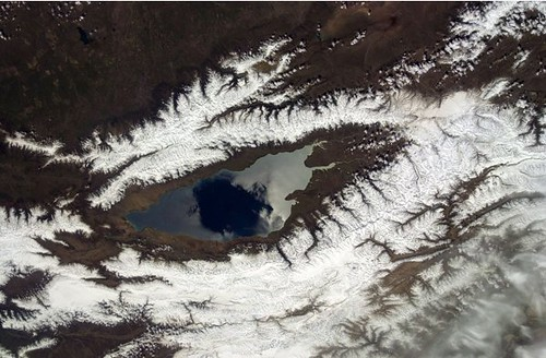 The 'Eye' of Issyk Kul (NASA, International Space Station, 01/26/12)