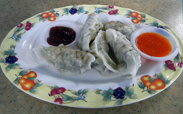 dumplings from hawker stand