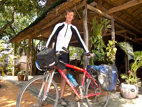 Touring cyclist Matthew