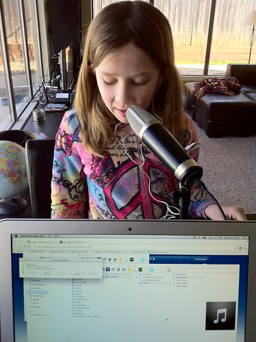 "Rachel Recording Audio for ""Snowflake Gets Lost"""