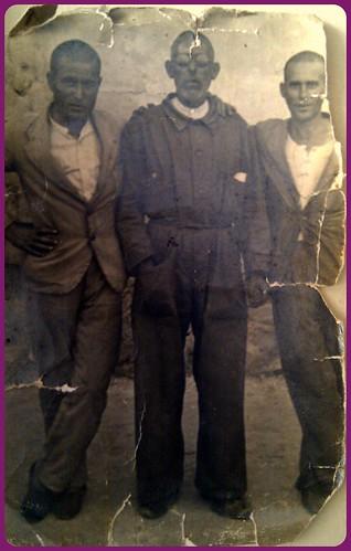 Porcunenses en la prisión de Totana (Murcia). C. 1940