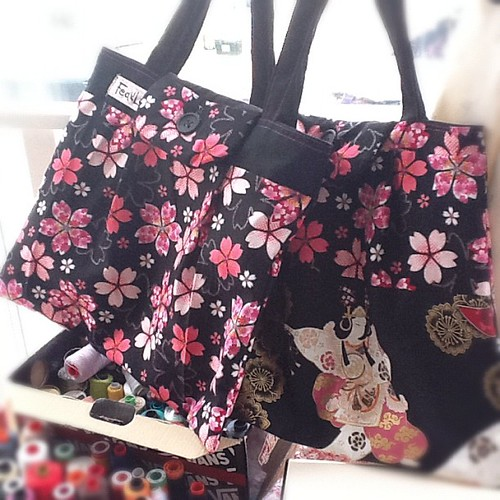 Sakura and Odoriko bags are ready! #handmade #uk #crafts #japanese