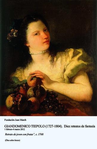 Retrato de joven con frutas c.1768