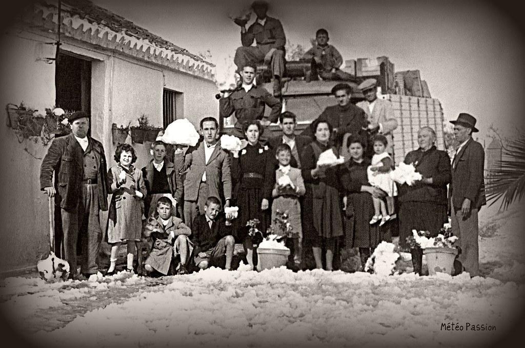 neige en Andalousie en février 1954