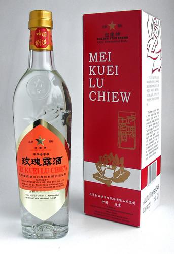 Chinese rozen likeur, rose wine, meiguilu jiu