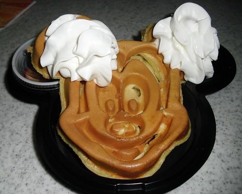 mickey waffles @ hong kong disneyland
