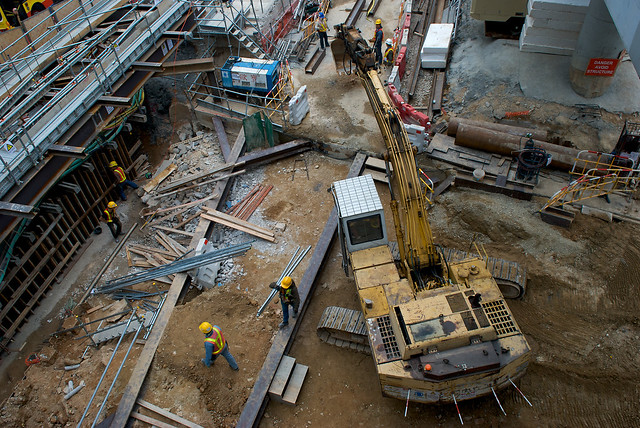 Subway Construction on HK Island