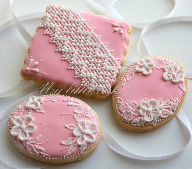 Pink Lace cookies 2 | Flickr - Photo Sharing!