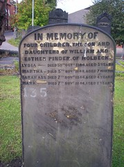 Childrens gravestone in St michaels