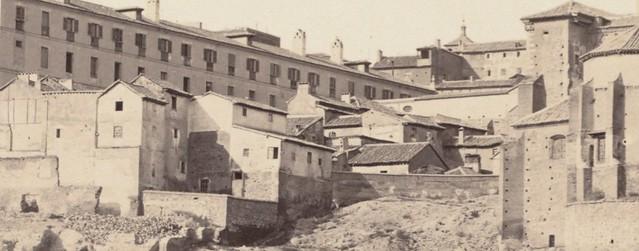 Mesón del Sevillano hacia 1858. Detalle de una fotografía de Charles Clifford