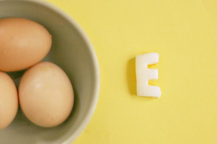{e} is for egg