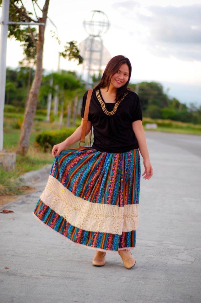Print Crochet Maxi Skirt, denise katipunera, Pinay Filipina Fashion Blogger, Mommy Style, Style on a budget, thrift skirt