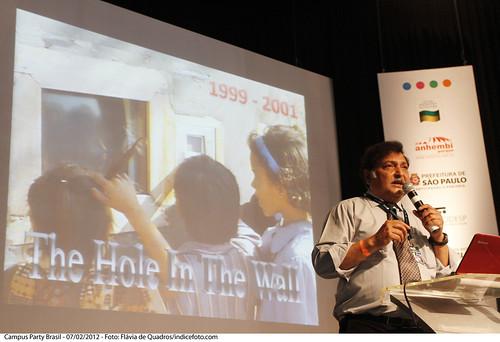 Sugata Mitra no palco principal