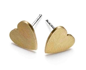 Arena CPH Lova Gold Heart Studs