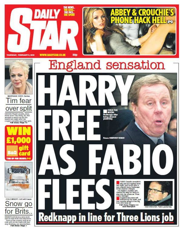 Picture Special: Capello Out, Redknapp In