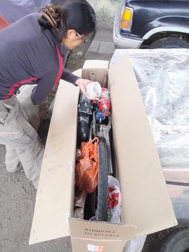 Surly Long Haul Trucker in a bike box