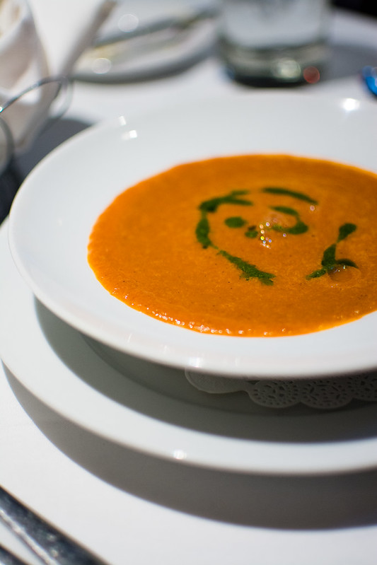 Roasted vegetable soup at The Crossing