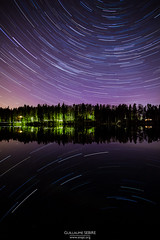Star trails over Siikajärvi