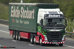 Volvo FH 6x2 Tractor with 3 Axle Curtainside Trailer - KR63 JKF - Jacqui - Eddie Stobart - M1 J10 Luton - Steven Gray - IMG_7553