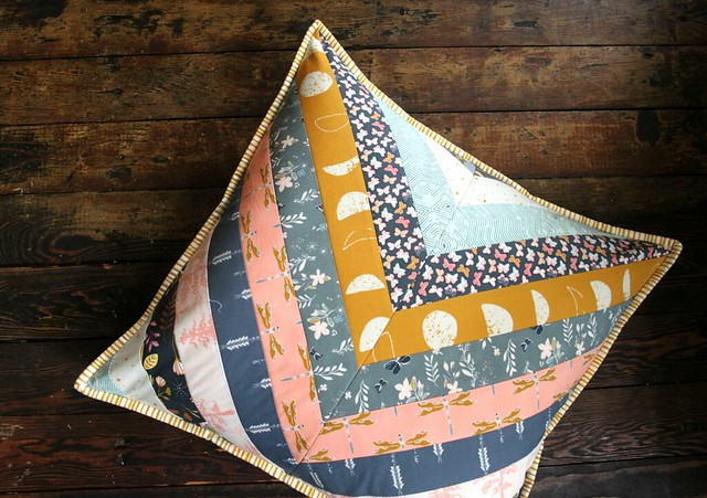 Herringbone Pillow in Moonrise