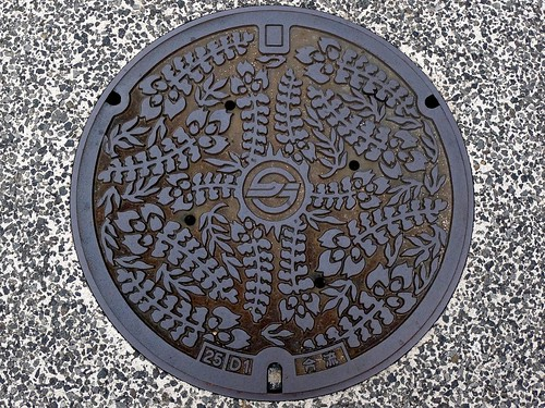 Kurashiki Okayama, manhole cover 5 (岡山県倉敷市のマンホール5)