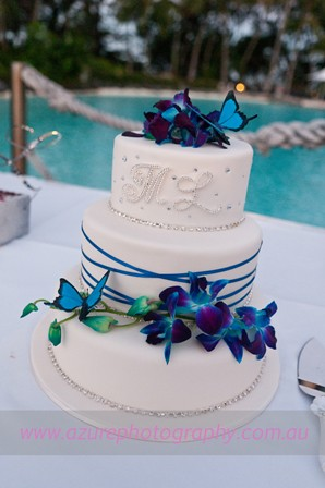 blue purple orchid wedding cake blue orchid wedding cake flickr photo 12002
