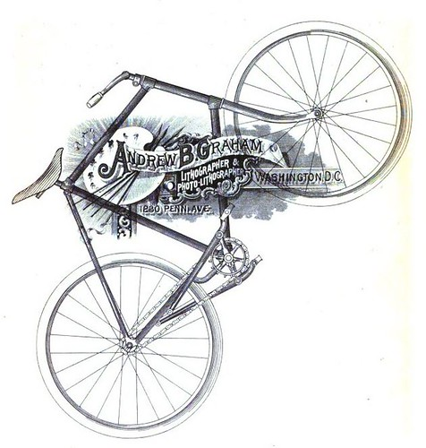 Lovely Bike illustration from Cycling Monthly (1892)