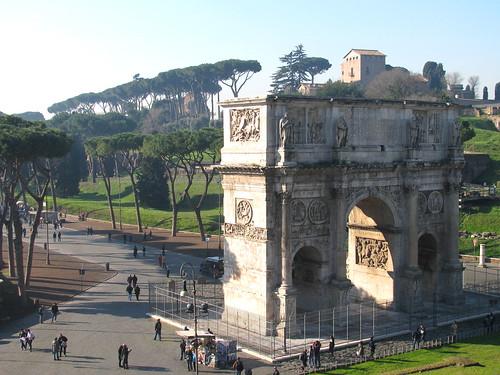 Arco di Constantino y Via di San Gregorio