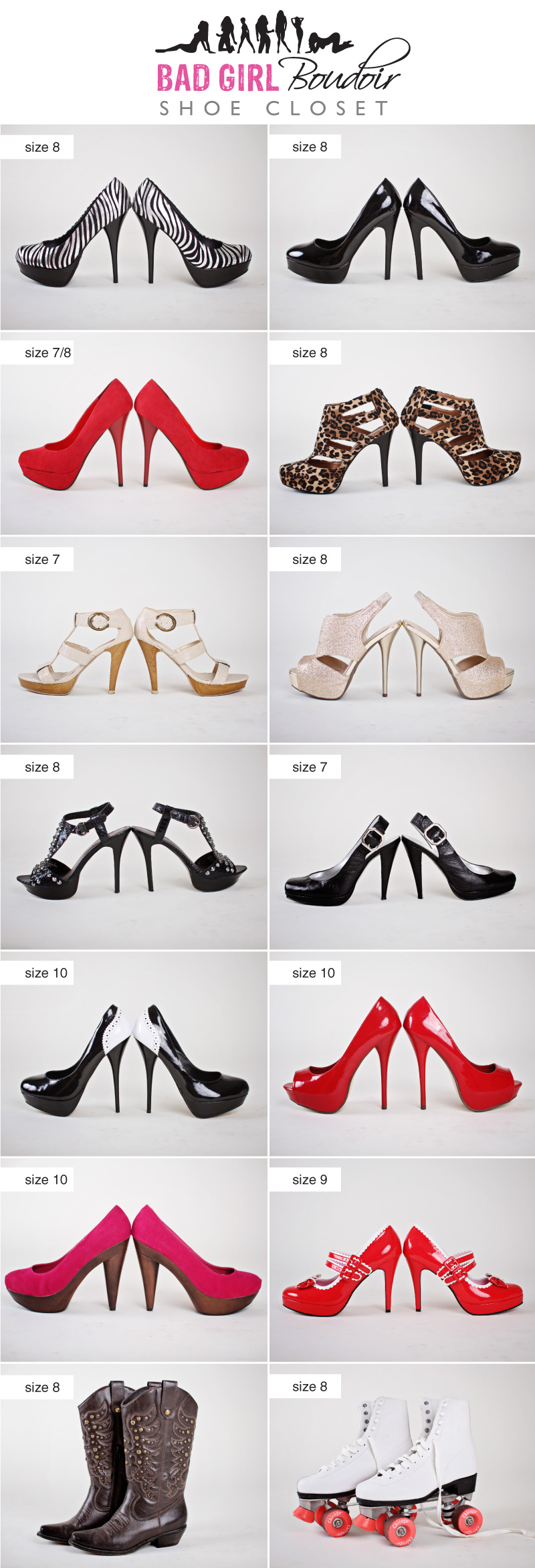 Boudoir Photography Studio Shoe Selection