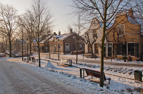 Winters Drimmelen - Historic Dutch village in winter by RuudMorijn