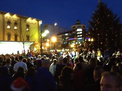 Crowd at Tree Lighting - Lexington, Ky.