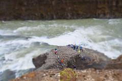 Gullfoss waterfall in Tilt Shift