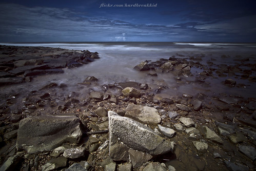ocean longexposure blue sea sky seascape water clouds canon eos rocks skies brunei 1022mm hitech manfrotto 50d ndgrad tutong penanjong binturan prostop