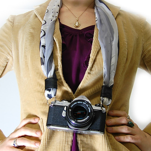 How to Make a Camera Strap from a Silk Scarf