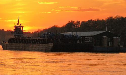 Barge Arrives at Cora Island
