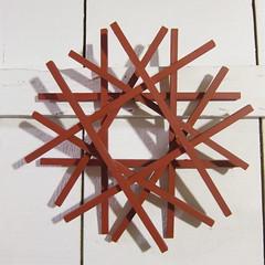 Iron Craft Challenge #48 - Square Dowel Wreath