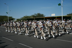 festival(0.0), marching band(0.0), musician(0.0), musical ensemble(0.0), parade(1.0), navy(1.0), crowd(1.0), marching(1.0), military(1.0), person(1.0),