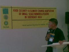 Rene Cerilla, Advocacy Leader, PAKISAMA, AFA member in the Philippines