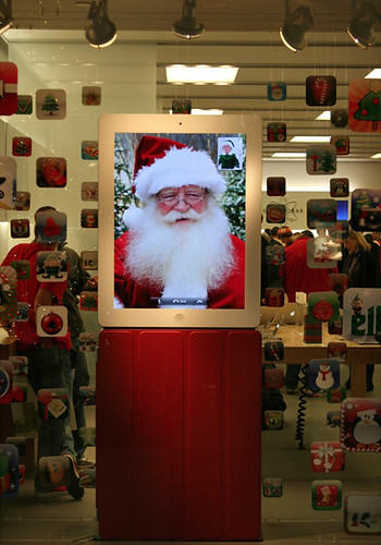 iPad Santa Apple Store Window