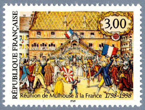 The French tricolour did not exist when Mulhouse was reunited to France in 1798