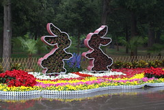 Rabbits sculpture in Jingshan