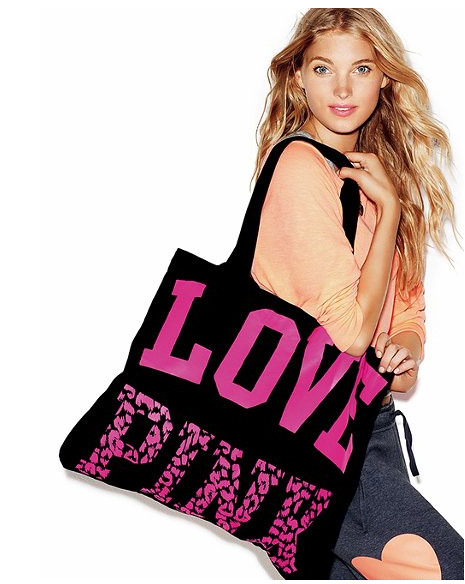 free pink tote model